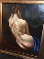 Klasszikus stilusban festett antik akt - megfejtendő festő