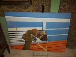 Judeika festmény 1940 úton Amerikába.