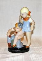 Gyönyörű Komlós páros kerámia figura