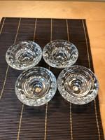 Kristályüveg gyertyatartók 4 darab