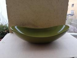Zöld asztalközép, kínáló