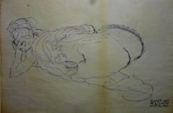 Gustav Klimt  eredeti grafikája: Nachlass