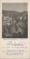 BADGASTEIN fürdőhelyi ismertető, idegenforgalmi kiadvány 1930as évek