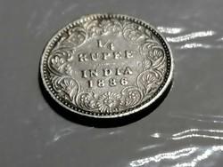 1/4 Rupia 1886 Angol gyarmat/India Viktória királynő