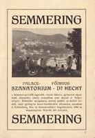 Palace Szanatorium SEMMERING idegenforgalmi kiadvány 1930as évek