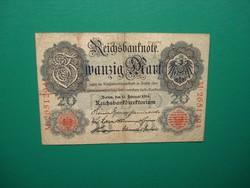 Németország 20 márka 1914