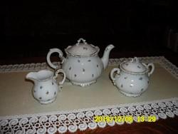 Zsolnay teás készlet  3 fő darabja