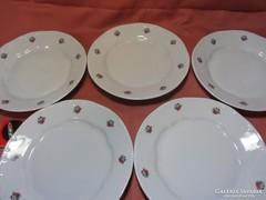 5 db Zsolnay lapos tányér