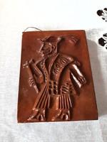 Iparműveszeti  csikós falikép,  falidisz