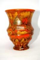 Gorka Géza váza - eredeti Nógrádverőce címkével