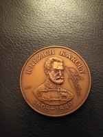 Knézich Károly bronz érem 1988