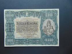 10000 korona 1920 C 06 Nagyon szép ropogós bankjegy !
