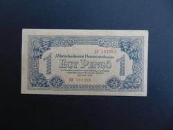 VH. 1 pengő 1944 sorszámos RITKA szép bankjegy !!!