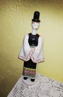 Aquincum Matyó legény porcelán, nipp, figura.