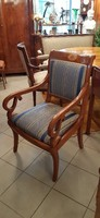 Antik biedermeier karszék, karosszék, fotel, szék felújítva
