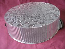 Nemesacél tortás tálca műanyag kristály búrával