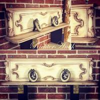 Vintage furniture, antique wall shelf 4.