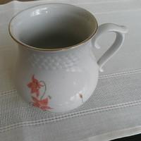 Hollóházi nagy, hasas porcelán bögre