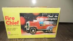 Retro régi Kínai lemez tűzoltó autó.'70-es évek vége,'80-as eleje