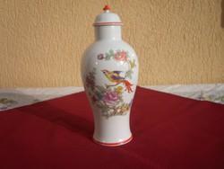 Paradicsom madaras Hollóházi fedeles váza- 25 cm.