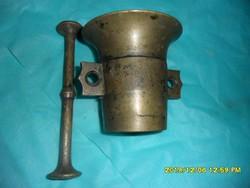 Különleges réz bronz mozsár eredeti ütővel
