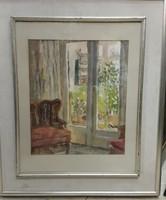 Bernáth Aurél jelzéssel 38 x 32 cm-es, olaj, vászon, gyönyörű szobabelső.