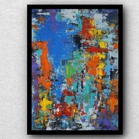 """""""Színek """"  Koso festmény ,hatalmas méret 80 x 105 cm ,keretes akció"""