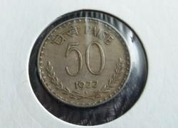India 50 Paise 1977.
