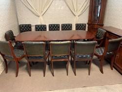Antik Chesterfield tárgyaló székek asztallal!