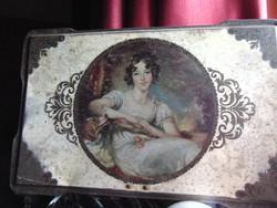 Antik kekszes doboz