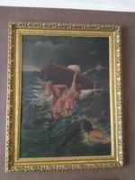 Háborgó tenger ismeretlen festő alkotása