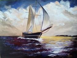 Hazafelé című festmény