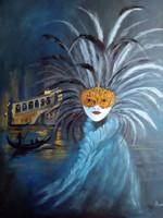 A Nő - Egy éjszaka Velencében című festmény  -  portré