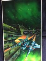Eredeti sci-fi festmény 48x30 cm /valószínűleg könyvborítónak készült/