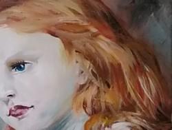 KÜLÖNLEGES PORTRÉ, EGYEDI AJÁNLAT! Eredeti modern szignózott festményt,Közvetlen a művésztől!