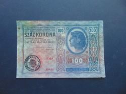 100 korona 1912 Románia Felülbélyegzés