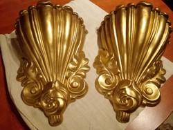Barokk Arany Fali dísz konzol, oszlopfő 37*27cm