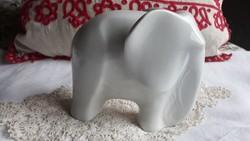 Fehér porcelán art deco elefánt