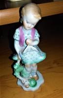 Bájos Herendi Porcelán kislány