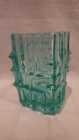 Vladislav Urban Sklo Union Cseh üveg váza , kék , hibátlan
