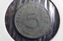 Német III. Birodalom, 5 Pfennig 1941 F!