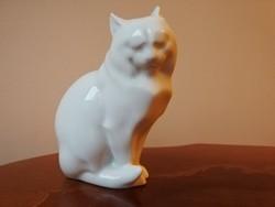 Herendi porcelán cica jelzett figura