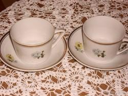 Nagyon szép hollóházi kávés csésze párban