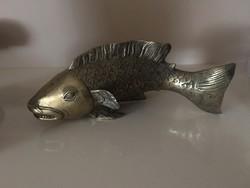 Réz (?) hal dísztárgy szobor horgászoknak vagy műkedvelőknek
