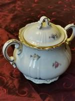 Zsolnay barokk aranyozott teás cukortartó az 1930 -as évekből