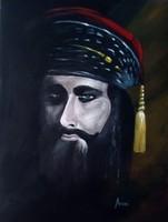 A Maláj Tigris című festmény  - portré