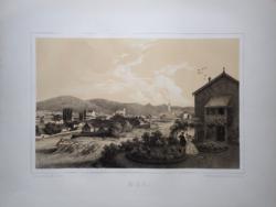 Keleti Gusztáv: Mád. Litográfia az eredeti(!) Tokaj-hegyaljai albumból (Pest: Emich Gusztáv, 1867)