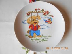 Kahla német porcelán, mese mintás, gyerek tányér
