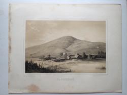 Keleti Gusztáv: Nagyszőllő. Litográfia az eredeti(!) Tokaj-hegyaljai albumból (Pest, 1867)