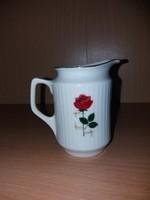 Porcelán Rózsás Tejszínkiöntő